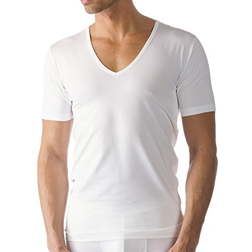 Mey Herren Business-Unterhemden - Dry Cotton Functional - 46098 - Weiß - Größe 6 - Drunterhemd V-Neck - Slim Fit