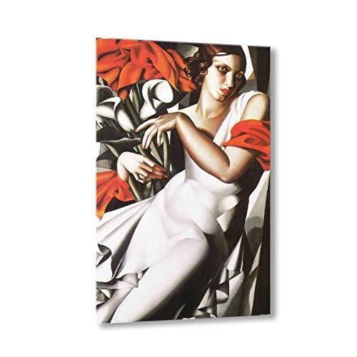 Ritratto di Ira P Tamara De Lempicka Quadro su Tela 100x60 Cm - Lmt22