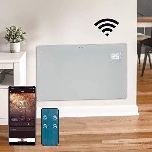 Devola WiFi Enabled Electric Glass Panel Heater 24...