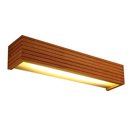 DESLP Lampara de Espejo Baño LED Lámpara de Pared Madera Moderna con Pantalla de Acrílico, Aplique de Espejo Maquillaje Interior para Sala de Estar Dormitorio,45cm 12w