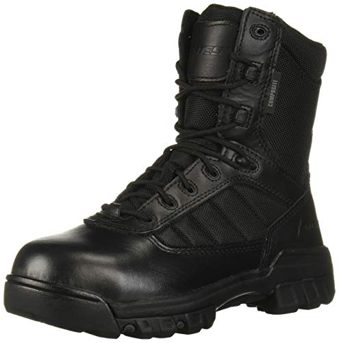 "Bates Women's 8"" Ultralite Tactical Sport Composite Toe Fire and Safety Boot, Black, 6.5 M US"