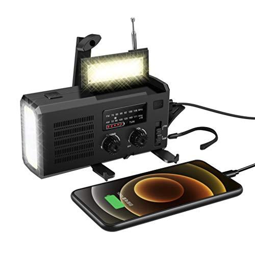 緊急ハンドクランクサン多機能防災ラジオ大容量4000mAh,LEDラジオFM/AM / NOAAモバイルラジオSOSアラームハンドクランク充電ソーラー充電USB充電ドライバッテリー利用可能4電源タイプラジオスマートフォン充電互換性のある充電便利な防水地震地