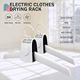 Electric Clothes Drying Rack - Multifunction Portable Shoes Clothes Rack Dry, Cold and Hot Wind Electric Drying Rack Eliminate Bad Odors and Wrinkles, - No Mess and No Damage - clothes drying rack (A)