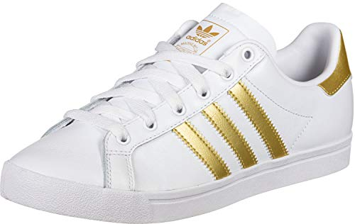 adidas Damen Coast Star Sneaker, Weiß (Footwear White/Gold Metallic/Grey 0), 39 1/3 EU