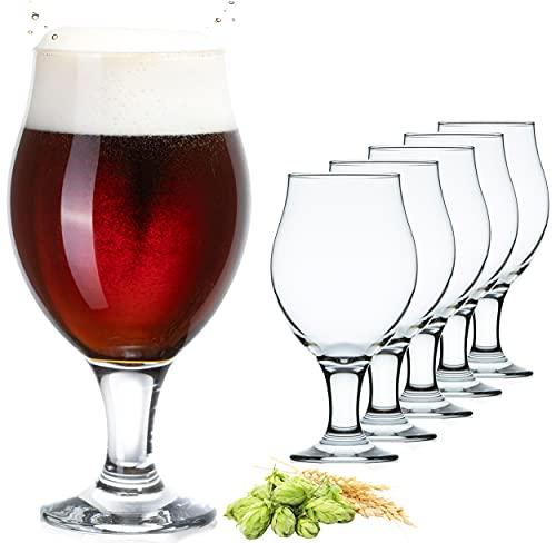 PLATINUX Verres à bière Tulipes Set 6 pièces 500ml (max. 560ml) Verres à bière pivotants Pilsner Altbierglas