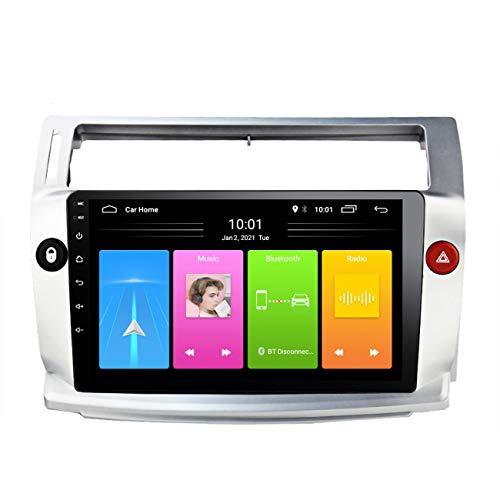 Radio de coche Android 10 para Citroen C4 C-Triomphe C-Quatre 2004-2009, reproductor multimedia Auto Radio, con manos libres Bluetooth, reproducción de vídeo 1080P,Wifi 1g+16g
