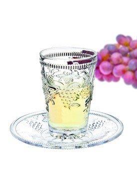 Crystal Kiddush Cup and Saucer