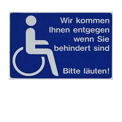10cm! 2Stück!Aufkleber-Folie Wetterfest Made IN Germany Behindertengerecht WC Rollstuhlfahrer Parplatz Hilfe Bitte läuten klingel S978 UV&Waschanlagenfest-Auto-Sticker ProfiQualität