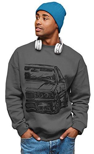 1/4 Mile E36 M3 3 Series Herren Sweatshirt Pullover #2042 (M, Dunkelgrau)