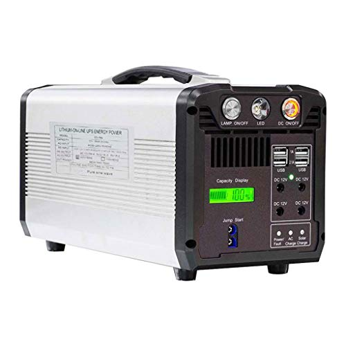LiRongPing 750W Portable Power Station 610Wh Solar Generator Backup Power Supply AC/DC/USB/Type-C Multiple Output UPS Emergency Battery (Voltage : 110V)