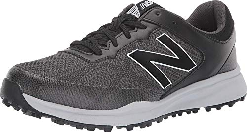 New Balance Men's Breeze Breathable Spikeless Comfort Golf Shoe, Black/Grey, 7 D D US