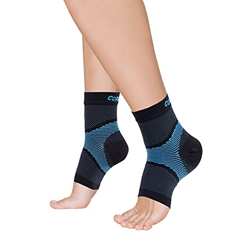 Copper Fit ICE Plantar Fasciitis Compression Sleeve Infused with Menthol, 1 Pair, Large/X-Large