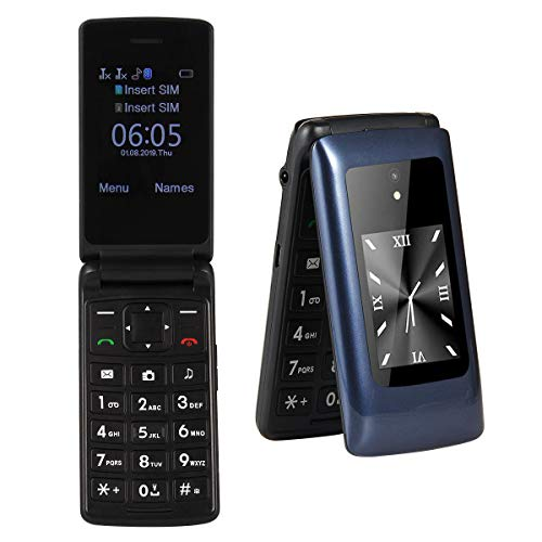 Unlocked Senior Flip Phone,2G T-Mobile Basic Cell Phone with Large Button SOS Button,Dual Card...