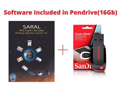 [PENDRIVE EDITION] SARAL PVC Card Printing Software (PenDrive Delivery 32gb) For Epson & Canon Printers