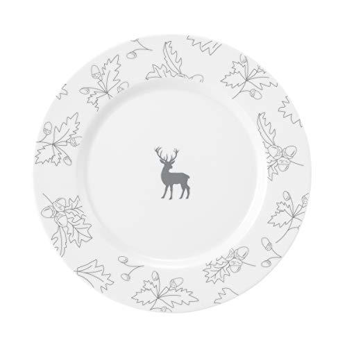 Seltmann No Limits 001.748919 - Platos de desayuno (6 unidades, porcelana, redondos, 24 cm de diámetro, 2 cm de altura), color gris