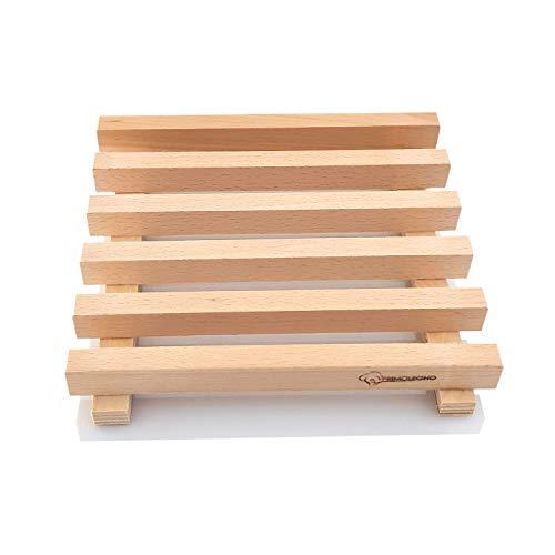 Primolegno Sottopentola Grande Modello Pallet 21x21 cm | Riproduzione di Bancale in Legno Naturale Stagionato | Regalo Originale
