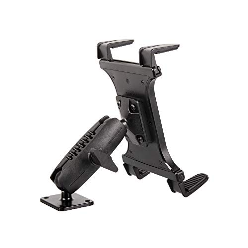 """Heavy Duty Drill Base Tablet Mount - TACKFORM [Enterprise Series] - 3.75"""" iPad Holder for Wall or Truck. ELD Mount 