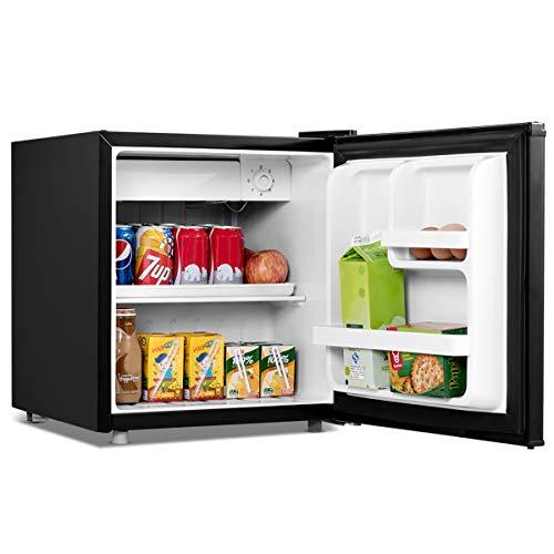 COSTWAY 48 litros Capacidad Refrigerador Mini Nevera Frigorífico Eléctrico Minibar (Negro)