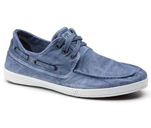 Natural World Eco Zapatos - 303E - Natural World Hombre - 100% EcoFriendly - Calzado Hombre Verano (46 EU, Celeste)