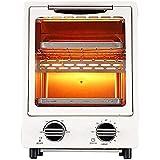 Horno Sobremesa doméstico 12L Mini horno con parrilla eléctrica, mini horno eléctrico eléctrico y parrilla, tostadora doméstica, horno eléctrico retro, espacio para hornear doble
