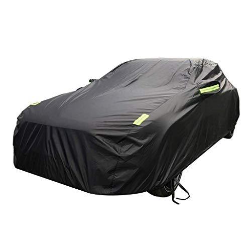 HTTSC Autoabdeckung Kompatibel mit Alfa Romeo Car Cover Car Kleidung Dick Oxford Cloth Sonnenschutz Regen-Abdeckung Auto-Cloth Car Cover Car Cover (Farbe : Schwarz)