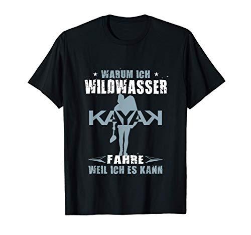 Herren Wildwasser Kajak Kanu Boot fahren Geburtstag Geschenk T-Shirt