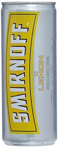 Smirnoff Red No. 21 Premium Vodka & Lemon, Mix-Getränk mit Vodka und Zitronensaftkonzentrat, 25cl