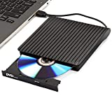 Externes CD DVD-Laufwerk, USB 3.0 & Typ C Dual Port - AMIGIK Tragbarer Optical Burner, High-Speed-Datenübertragung für Laptop, Desktop, Mac, MacBook, Win 10/8/7/XP, Linux, MacOS, Vista7/8…
