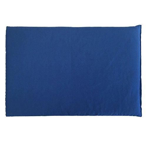 Rapssamenkissen 30 x 20 cm, Bio Stoff enzianblau - Als Wärmekissen & Kältekissen - Körnerkissen für Mikrowelle und Backofen (30x20cm)