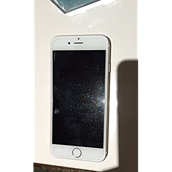 Glitter-Infused Tempered Glass Screen Protector Silver Not Plus MOXYO Glitter Glass Screen Protector for Apple iPhone 6//6s//7//8