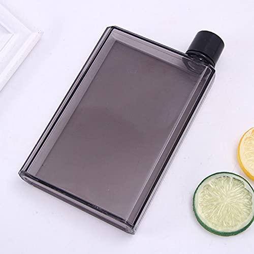 Bouteille d'eau portable élégante et réutilisable - Sans BPA - Sans fuite - Pour sports de plein air, voyage, fitness, gym - 350 ml - Noire