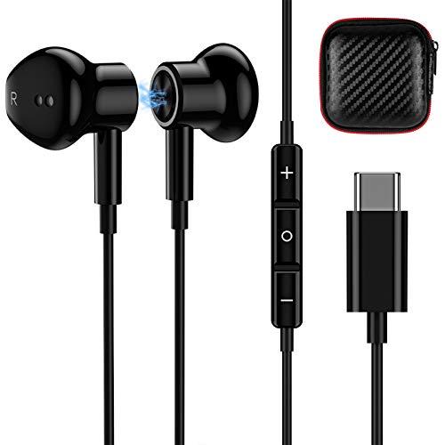 TITACUTE Cuffie USB C HiFi Stereo Noise Cancelling Tipo C Auricolari USB C cablati Compatibile con Samsung S20 S21 Note 20 OnePlus 9 9 Pro Nord 8T 8 Pro Huawei P20 P30 P40 Pro Google Pixel 5