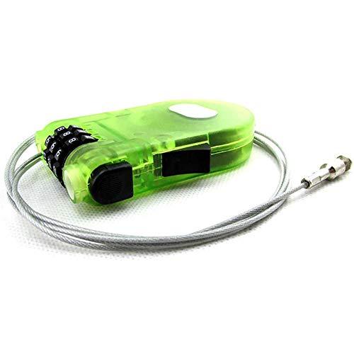 maofan Wachtwoord Anti-diefstal Hangslot, Fiets Mini-kabel Slot, Uitbreidbare Veiligheidstouw Onderdelen Groene