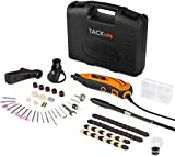 TACKLIFE Rotary Tool Kit, 6 Variable Speed 10000-32000 RPM, 82 Accessories 4 Attachments and Carrying Case Flex Shaft, Rotary Multi Tool for Around The House and Crafting Projects-RTD35ACL
