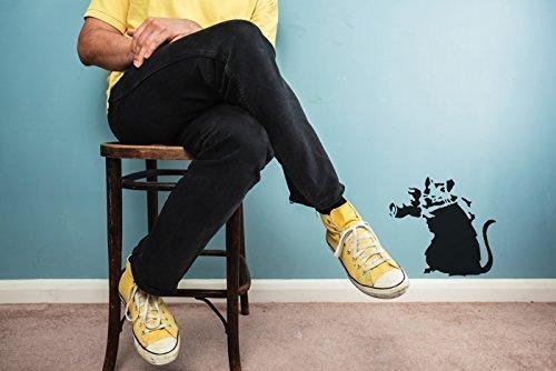 Banksy Kamera Ratte, Paparazzi Ratte Schablone wiederverwendbar startseite-wand-dekor Schablone Graffiti Banksy Stil Kunst Schablone Wandfarbe Stoffe & Möbel - halb transparent Schablone, L/ 37X40CM