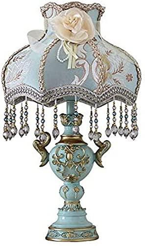 ZJJZ Lámpara de Mesa de Mesa de Noche BoholIsland, lámpara de Mesa de jardín Victoriana de Color Esmeralda Pintada, Cable de alimentación enchufable, Interruptor de botón fácil de Usar, luz de es