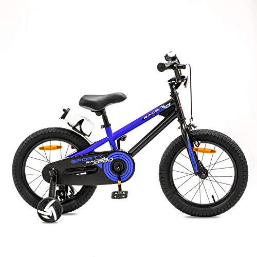 NB Parts - Bicicleta infantil para niños y niñas, BMX, a partir de 3 años, 12 pulgadas / 16 pulgadas, color azul mate, tamaño 16