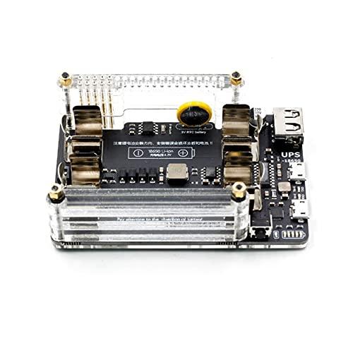 ZRNG Nuevo Tablero de extensión de Potencia de UPS 18650 con RTC, Medición, Puerto Serial de 5V Puerto Serial Fan Hat Fit para Raspberry Pi