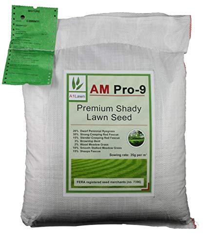 A1 Lawn, AM Pro-9 Premium Shady Lawn Growing Grass Seed, 5kg