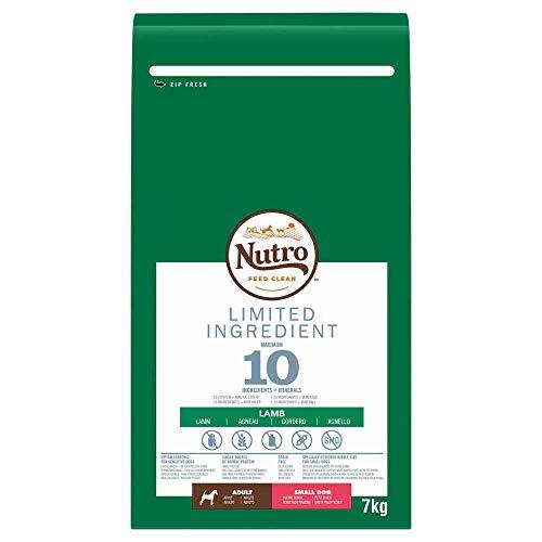 NUTRO Hundefutter Trockenfutter Limited Ingredient Adult für kleine Hunde 1+ Mit Lamm, 1 Beutel (1 x 7kg)