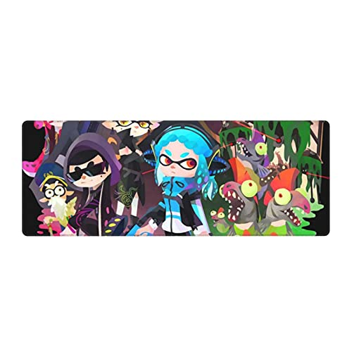 Splatoon Mouse Pad Extended Gaming Mouse Pads, Use Natural Rubber Pads Waterproof,Non-Slip Suitable for Computers, Laptops,Offices and Game