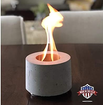 Colsen Tabletop Bio Ethanol Rubbing Alcohol Fireplace Indoor Outdoor Fire Pit Portable Fire Concrete Bowl Pot Fireplace