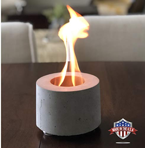 Colsen Tabletop Rubbing Alcohol Fireplace Indoor Outdoor Fire Pit Portable Fire Concrete Bowl Pot Fireplace