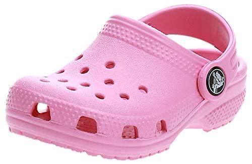 crocs Unisex-Kinder Classic Kids Clogs, Pink (Pink Lemonade 669), 25/26 EU