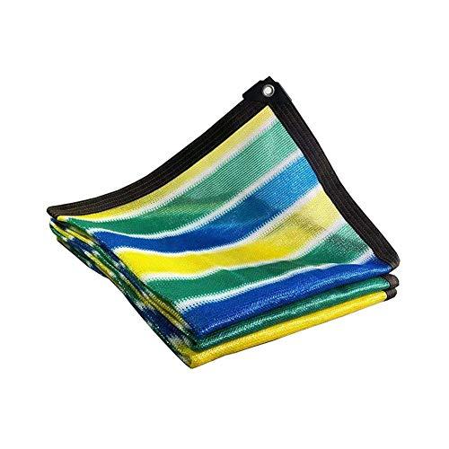 DGLIYJ Hochwertige Polyethylen Sonnenschutz Net, Dense Sonnenschutz, Bunte Streifen-Sonnenschutz Wärmedämmung Balkon Garten Villa Blumenhaushalts Rolläden (Size : 2x8m)