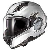 LS2 Helmets Valiant II Modular Helmet (Gloss Silver - Medium)