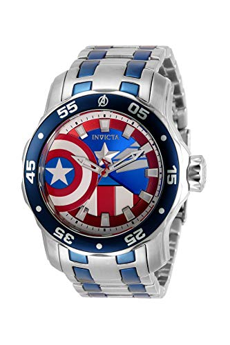 Invicta Marvel Capitán América Reloj de cuarzo para hombre 32413