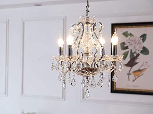 Saint Mossi moderne K9 kristallen kroonluchter verlichting plafondlamp lamp 4 armen met 4 E12 fitting hoogte 45 cm breedte 42 cm