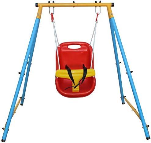 KLB Sport Baby Toddler Indoor Outdoor Metal Swing Set Blue Red Yellow product image
