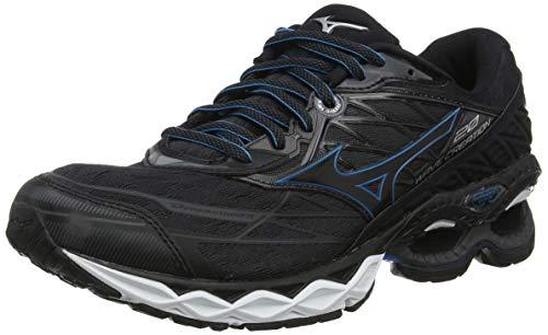 Mizuno Wave Creation 20 - Zapatillas Deportivas para Hombre, Color Negro, Negro, Negro, Azul y Azul Jewel 09 - Talla: 41